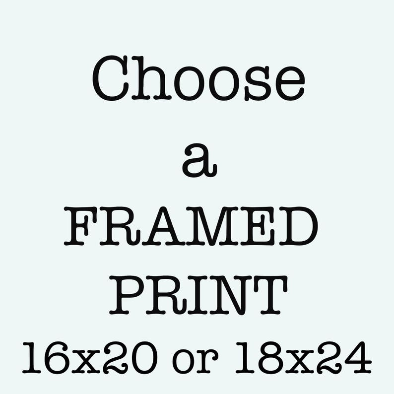 Framed Art Large Wall Art Any print as a ready to hang image 0