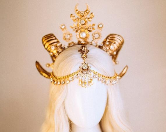 Sugar Skull Crown, Halloween, Halo, Halo Crown, Halo Headpiece, Halo Headband, Halo Headlights, Horns, Antlers, Skull, Spooky Halo, Goat