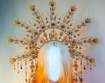 Butterfly Halo, Sun Jewellery, Moon child, Halo Headpiece, Halo Crown, Butterfly Crown, Celestial, Headpiece, Pregnancy Photo, Goddess