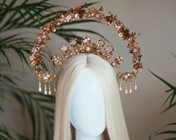 Moon Child Halo, Sun Jewellery, Halo, Halo Headpiece, Halo Crown, Halo Headlights, Crown, Celestial, Headpiece, Pregnancy Photo, Goddess