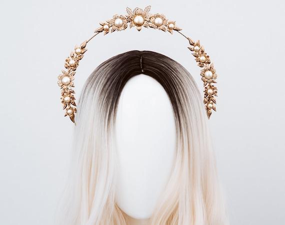 Boho Wedding, Gold Halo, Boho Wedding Crown, Wedding headpiece, Boho Wedding Tiara, Halo Crown, Star Halo Crown, Flower Crown, Star, Boho