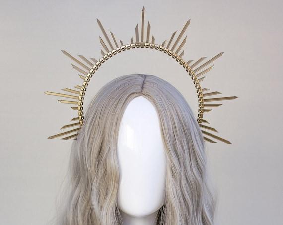 Gold Halo Crown, Halo Headpiece, Festival crown, Festival headpiece, Met Gala Crown, Wedding Crown, Halo crown, Boho Wedding, Halo Headband