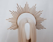 Gold Halo Crown, Halo Headpiece, Festival crown, Festival headpiece, Met Gala Crown, Wedding Crown, Halo crown, Boho Wedding, Halo Headband