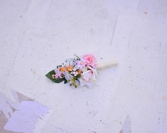 Romantic flower wedding boutonniere corsage