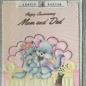 VintageRetro Loving Wife VintageRetro Circa 1980s Happy Birthday With Love To My Wife Card in original cellophane with envelope
