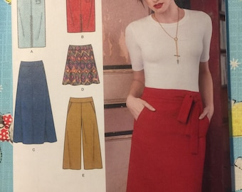 SIMPLICITY SEWING PATTERN 8175 MISSES SZ 14-22 SLIM /& FLARED SKIRTS /& CULOTTES