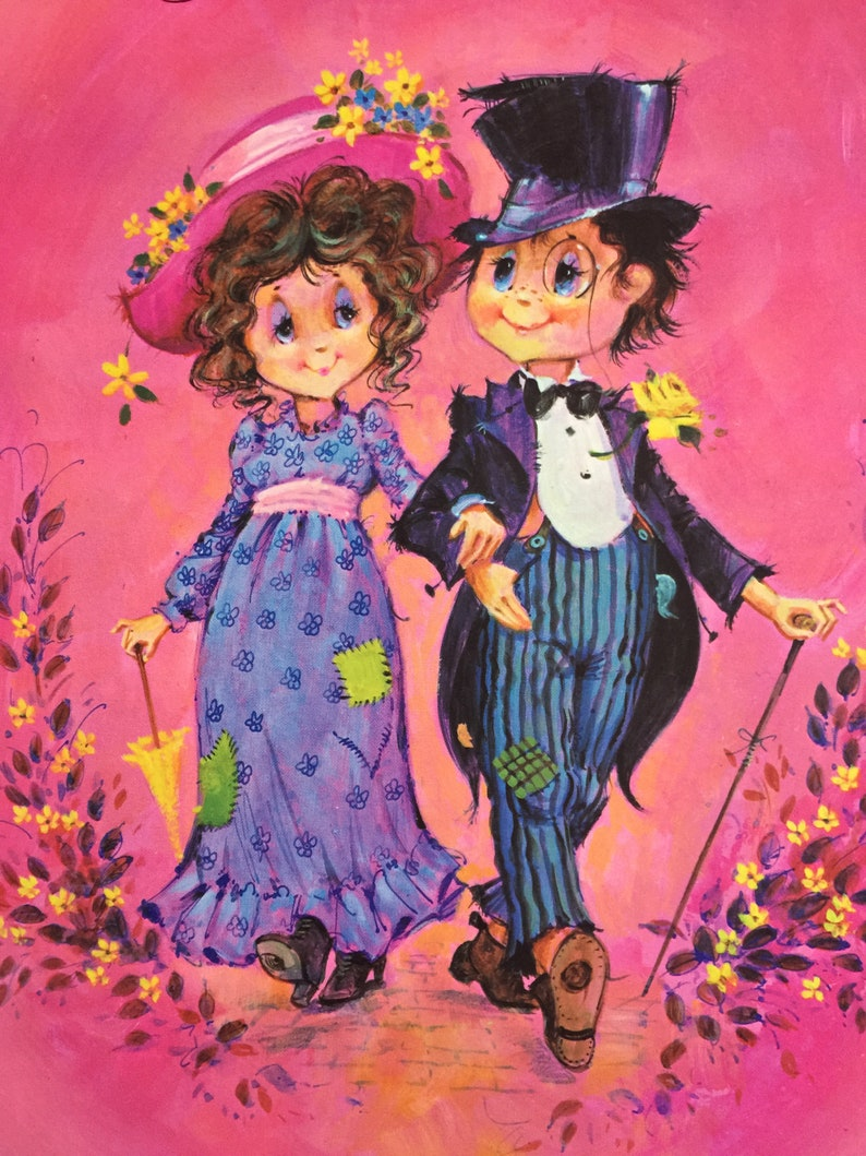 Extremely RARE Vintage Circa 1970s /'Engaged!/' Engagement Card Retro Sharpe/'s Classic /'Pals /'n/' Gals Card with Fabulous Dapper Couple Design