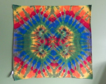 Tie Dye for your Hippie Baby   Muslin Swaddle   Stroller Blanket   40 x 40  Quadruple Green Spiral Rainbow   Jane s Dye House 1856 cd362c75a