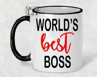 World's Best Boss coffee mug, funny coffee mug,Boss Gift for Boss, Gift for Boss, Coworker Gift for Coworker, Boss Mug Boss Coffee Mug