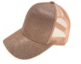 e74108ed89a72 CC Beanie glitter high ponytail cap