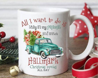all i want to do is stay in my pajamashallmark movieshallmark christmas mugchristmas mugchristmas giftchristmas gift mughallmark mug - Cheap Christmas Mugs