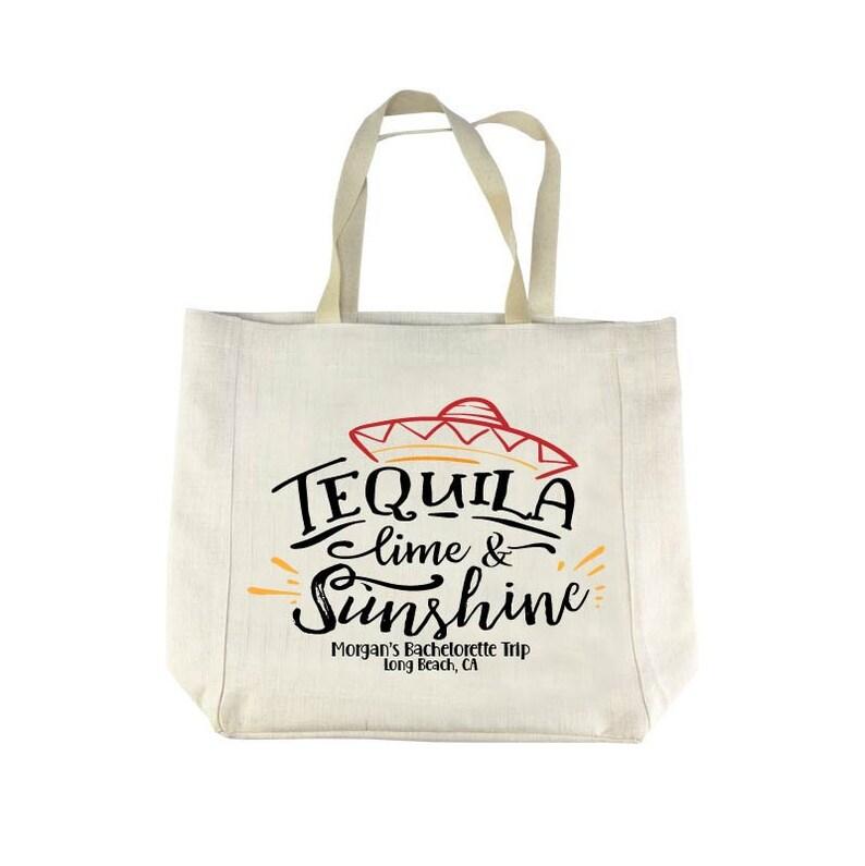 Tequila lime sunshine tote bag,beach tote,beach trip tote bag,family beach trip girlfriend weekend,bachelorette trip