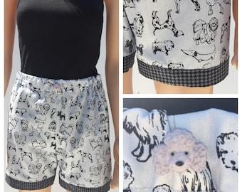 Dog Lover's Pajama Shorts Set