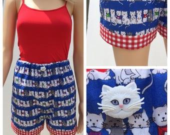 Cat Pajama Shorts Set