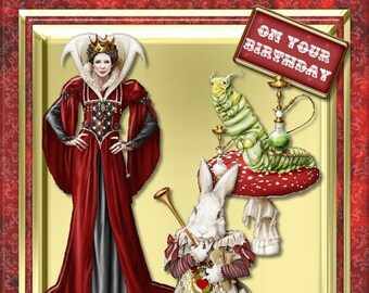 B1 - Queen of hearts and caterpiller