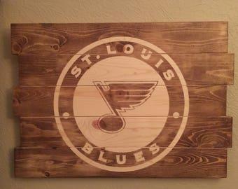 St. Louis Blues Logo Sign