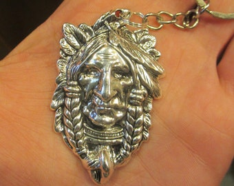 Indian Charm Indian Head Zipper Pull Native American Inspired -1900G640 Indian Tribe Chief Head Charm Pendants