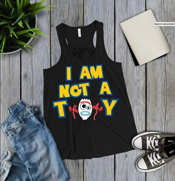 Ich bin kein Spielzeug, Forky, Toy Story 4 inspiriert, Hollywood Studios, Disney World, Urlaub, Frauen, Tank, Kind, Hemden, Gruppenhemden, woody,