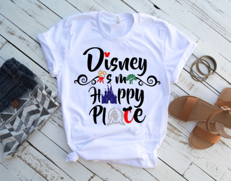 Disney Is My Happy Place Shirtfamily Shirts Group Matching