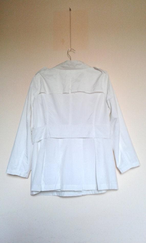 White Womens Jacket,White Coat,Womens Spring Coat… - image 3