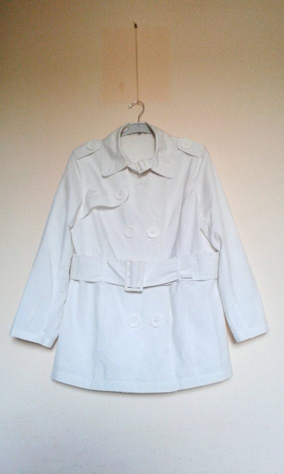 White Womens Jacket,White Coat,Womens Spring Coat… - image 2