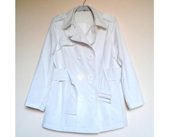White Womens Jacket,White Coat,Womens Spring Coat… - image 4