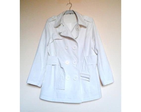White Womens Jacket,White Coat,Womens Spring Coat… - image 1