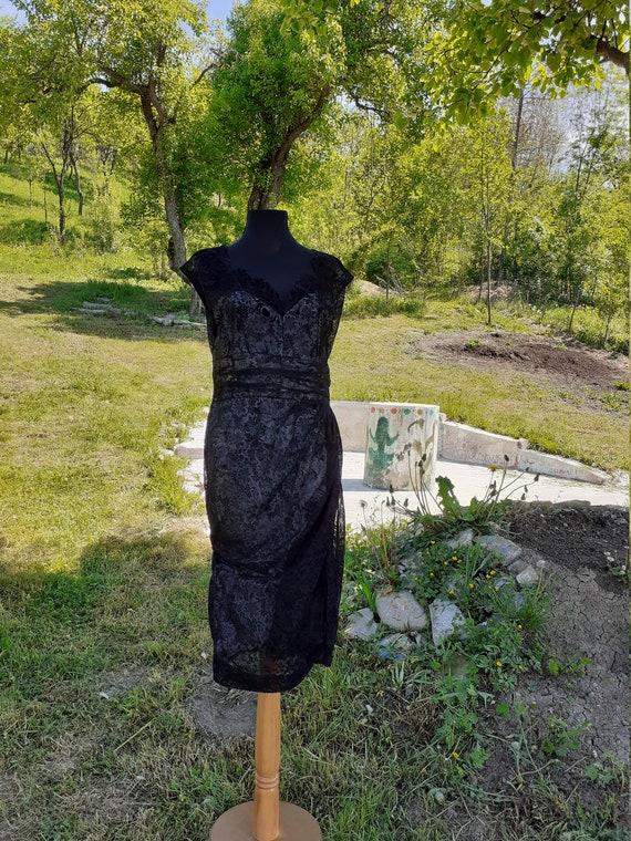 Black Lace Dress,Cocktail Black Dress, Night Dress