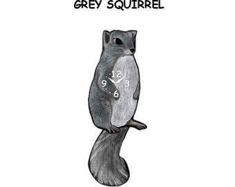 grey squirrel clock