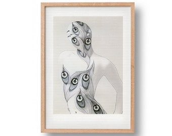 Eye Be Dazzled (Eye) | fine art poster print | camouflage | surrealism | free shipping in the Netherlands