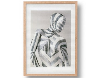 Eye Be Dazzled (Dazzled) | fine art poster print | camouflage | surrealism | free shipping in the Netherlands