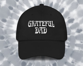 a3fc3702bb06d Grateful Dad Embroidered Hat Grateful Dead Deadhead Gift For Dad Grateful  Dead Fathers Day Gift Ball Cap Dad Hat - Customization Available