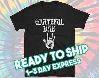 d3985fe0f Rush Order Grateful Dad T Shirt Grateful Dead Deadhead / Jerrys Hand Print  / Mens Grateful Dead Fathers Day Gift for Dad / Black L XL 2XL