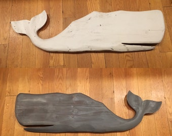 Carved Wooden Whales