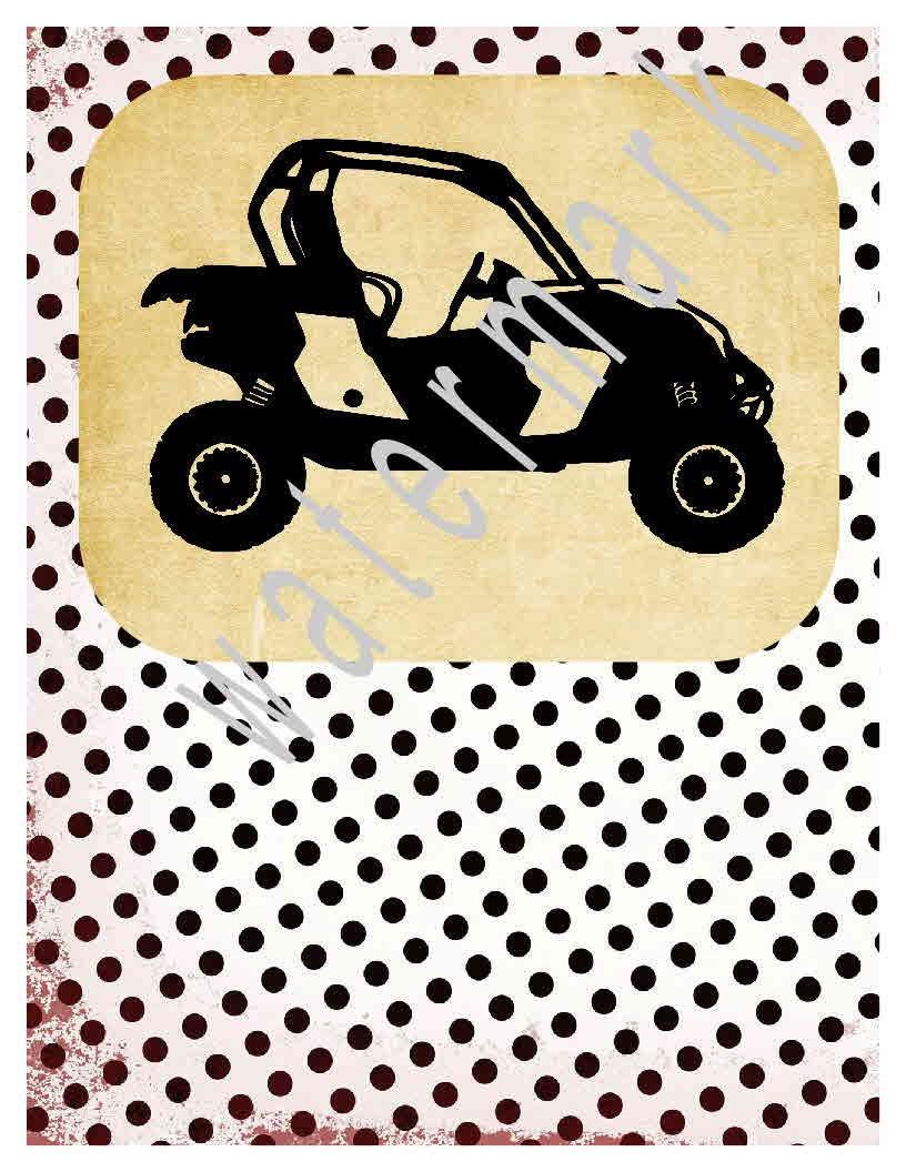 ATV svg 4 wheeler svg silhouette cameo cricut Dxf 4 wheeler   Etsy