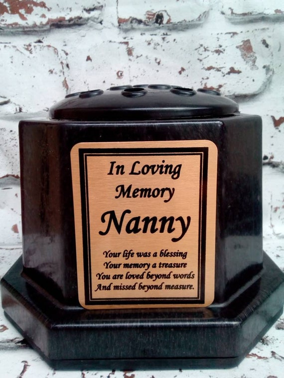 Personalised Memorial Flower Potpersonalised Laser Engraved Etsy