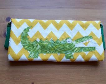 Handmade Crocodile Pencil case