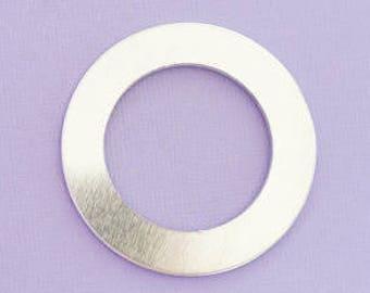 "1.5"" Large Washer - Aluminum Stamping Blanks - Metal Stamping Blanks - 14g - #207d"