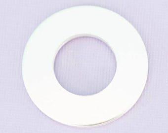 "1.25"" (31.75mm) Washer - Aluminum Stamping Blanks - Metal Stamping Blanks - 14g - #226"