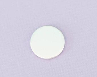 "Aluminum 0.625"" or 5/8""(15.87mm) Stamping Blanks - Metal Stamping Blanks - Round - 14g - #106"