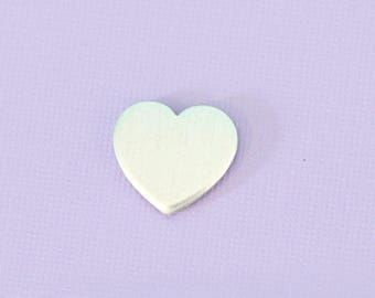 """Small Heart .65"""" - Aluminum Stamping Blanks - Metal Stamping Blanks - 14g - #1"""