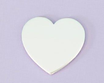 "1.25"" (31.75mm) Large Heart - Aluminum Stamping Blanks - Metal Stamping Blanks - 14g - #5"