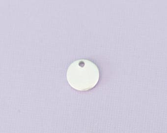 """3/8"""" (9.52mm) Round with hole - Aluminum Stamping Blanks - Metal Stamping Blanks - 14g - #127"""