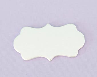 """1.77""""(44.95mm)  Large Scalloped Plaque - Aluminum Stamping Blanks  - Metal Stamping Blanks - 14g - #59"""