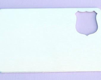 """2.125"""" (48.76mm) Wallet Insert with Police Badge - Aluminum Stamping Blanks - Metal Stamping Blanks - 14g - #188"""