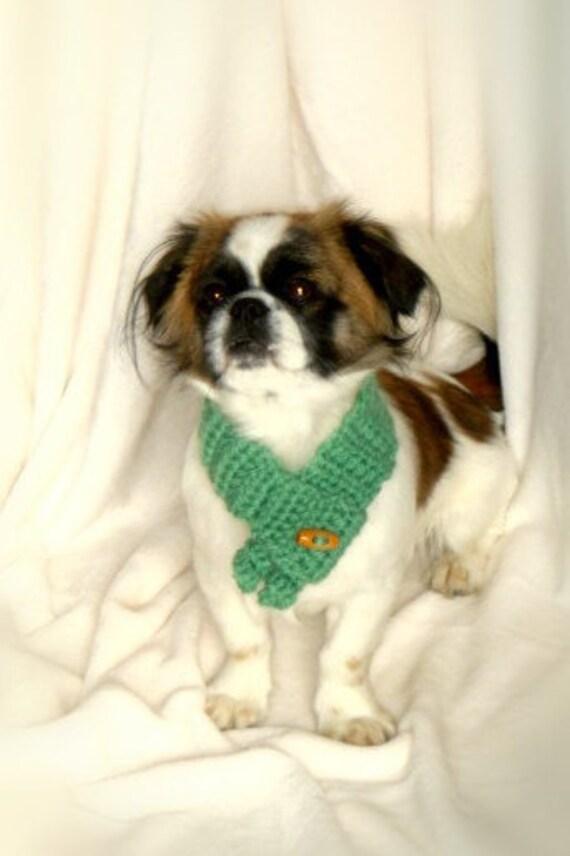 Artículos similares a Bufanda de ganchillo para perros. Bufanda para ...