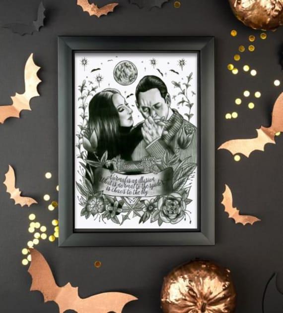 Morticia gomez tattoo and Addams Family