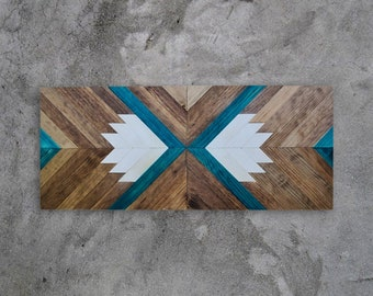 Wood Art, Wood Wall Decor, Reclaimed Wood Wall Art, Geometric Wood Art, Mosaic Wood Art