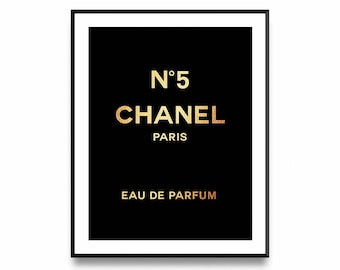 Chanel Gold Print, Fashion Art, Chanel Logo, Chanel Logo Print, Fashion Print, Chanel Printable, Coco Chanel Print, Coco Chanel Logo