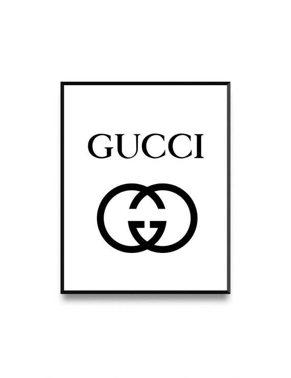 gucci print fashion illustration gucci logo printable gucci etsy